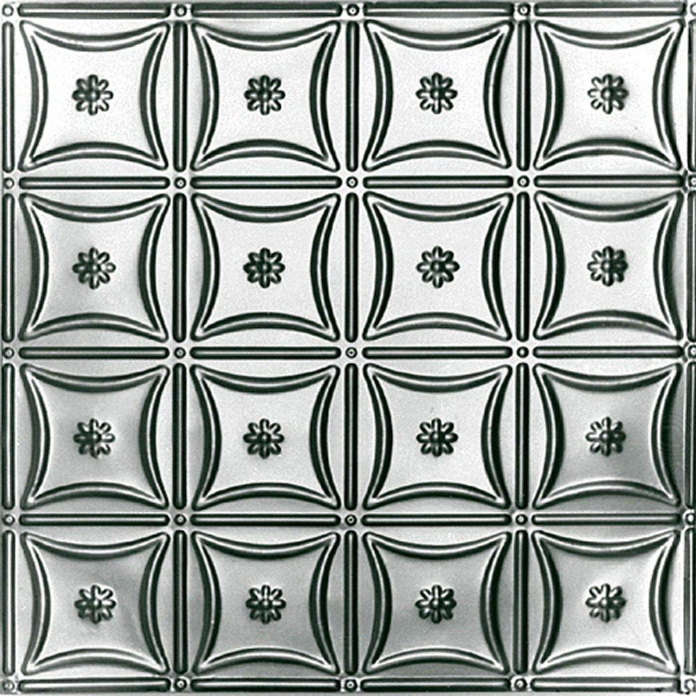 Shanko 2 ft. x 4 ft. Nail-up/Direct Application Tin Ceiling Tile in Bare Steel (24 sq. ft. / case)