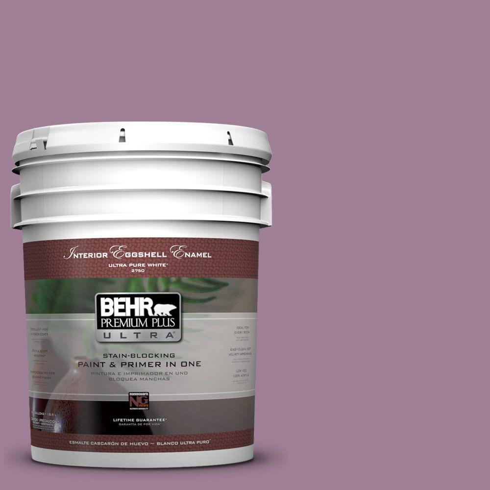 5 gal. #PMD-82 Violet Bouquet Eggshell Enamel Interior Paint and Primer