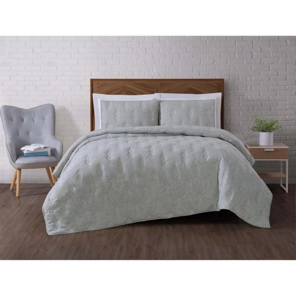 Brooklyn Loom Tender Green Full/Queen Quilt Set QS2697GRFQ-2600