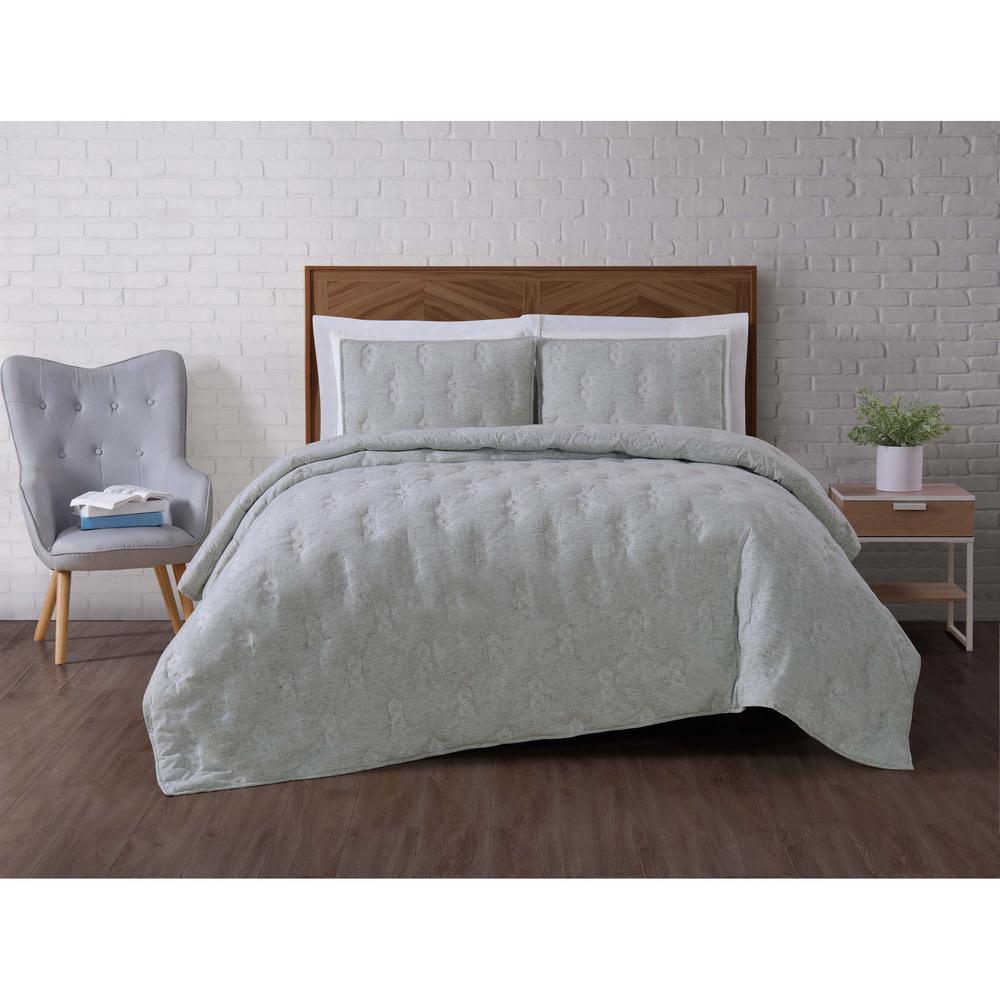 Brooklyn Loom Tender Green King Quilt Set QS2697GRKG-2600