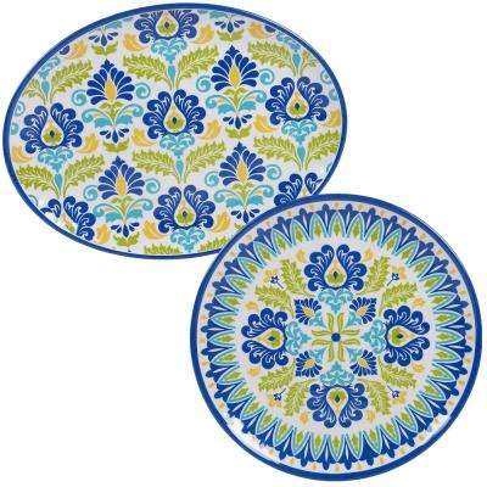 Martinique 2-Piece Melanine Platter Set