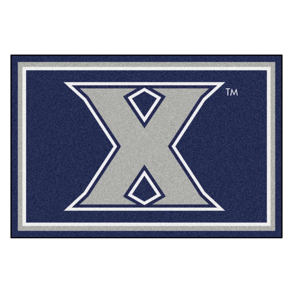 Fanmats Ncaa Xavier University Blue 8 Ft X 5 Ft Indoor