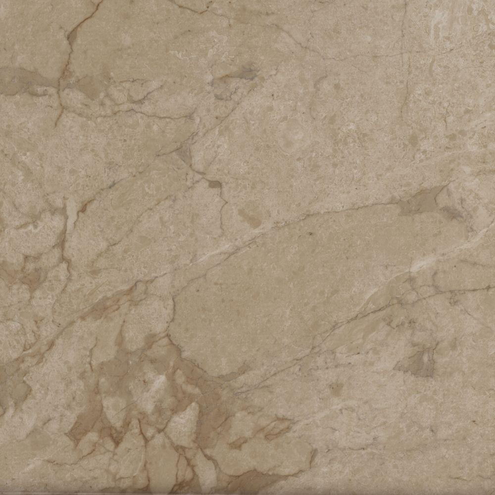 TrafficMASTER Take Home Sample   Allure Ultra Tile Carrara Tan Resilient  Vinyl Flooring   4 In