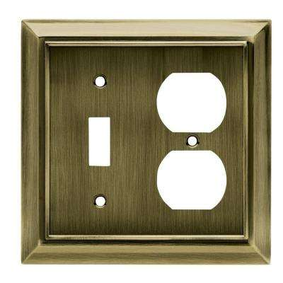 Architectural Decorative Switch and Duplex Outlet Cover, Antique Brass