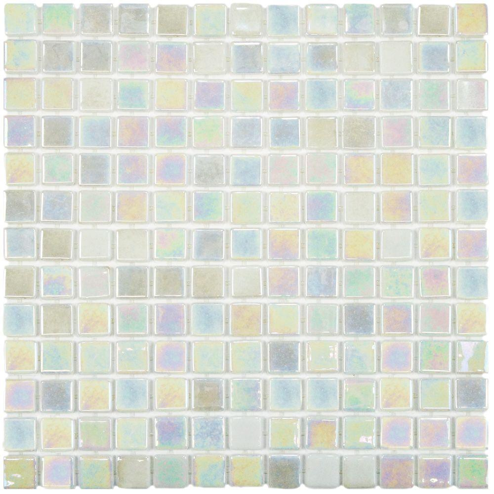 Merola Tile Ruidera Square Mother of Pearl 13 in. x 13 in. x 5 mm ...
