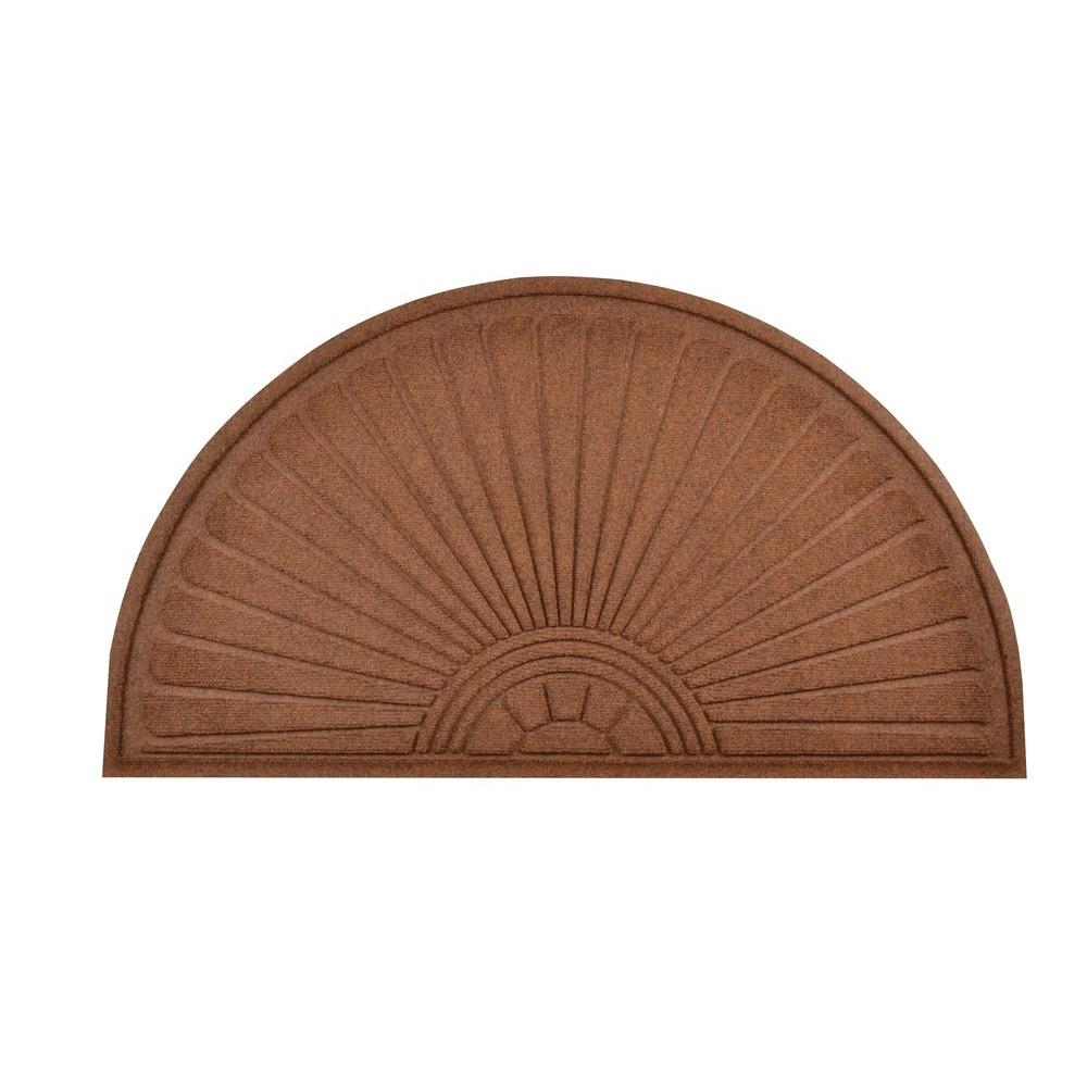 HomeTrax Designs Guzzler Sunburst Brown 1 ft. 11 in. x 3 ft. 8 in. Rubber-Backed Entrance Mat