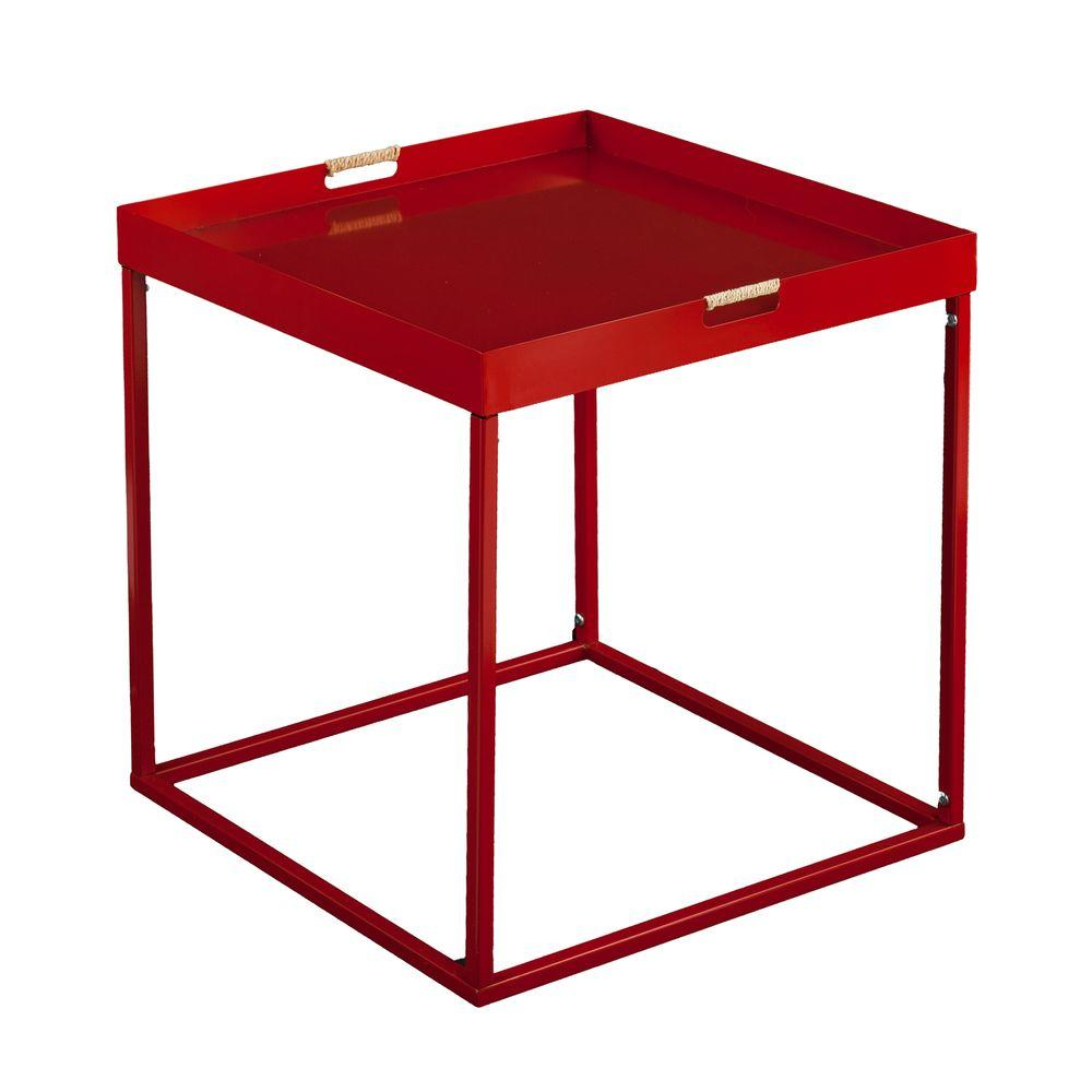 Southern Enterprises Wilcox Red Indoor/Outdoor Butler Accent Patio Table