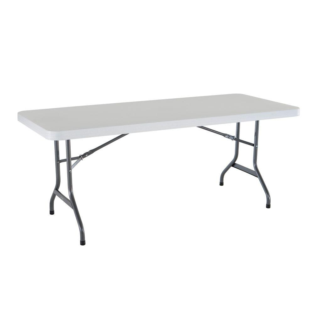 White Granite Folding Utility Table