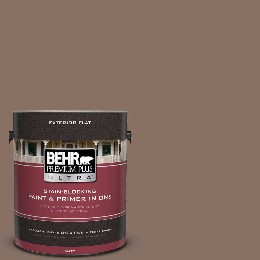 BEHR Premium Plus Ultra 1-gal. #770B-6 Oakwood Brown Flat Exterior Paint