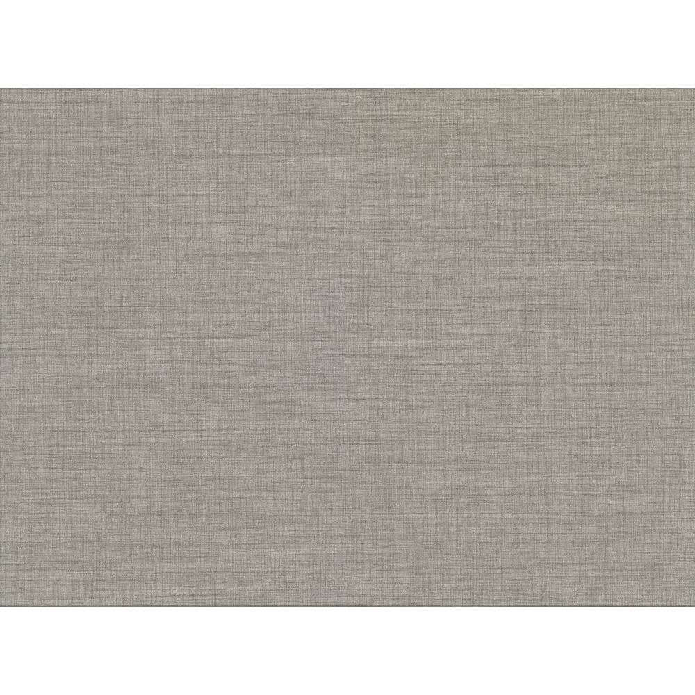 60.8 sq. ft. Essence Grey Linen Texture Wallpaper