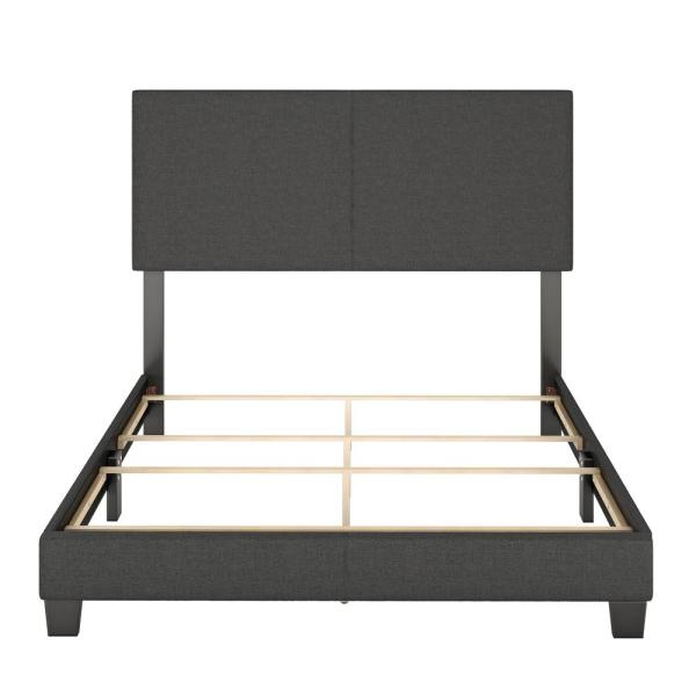 Barrett Twin Charcoal Linen Upholstered Platform Bed MIL896TW