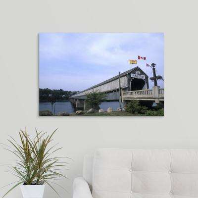 """Worlds largest Covered Bridge in Hartland, New Brunswick, Canada"" by Bill Bachmann Canvas Wall Art"