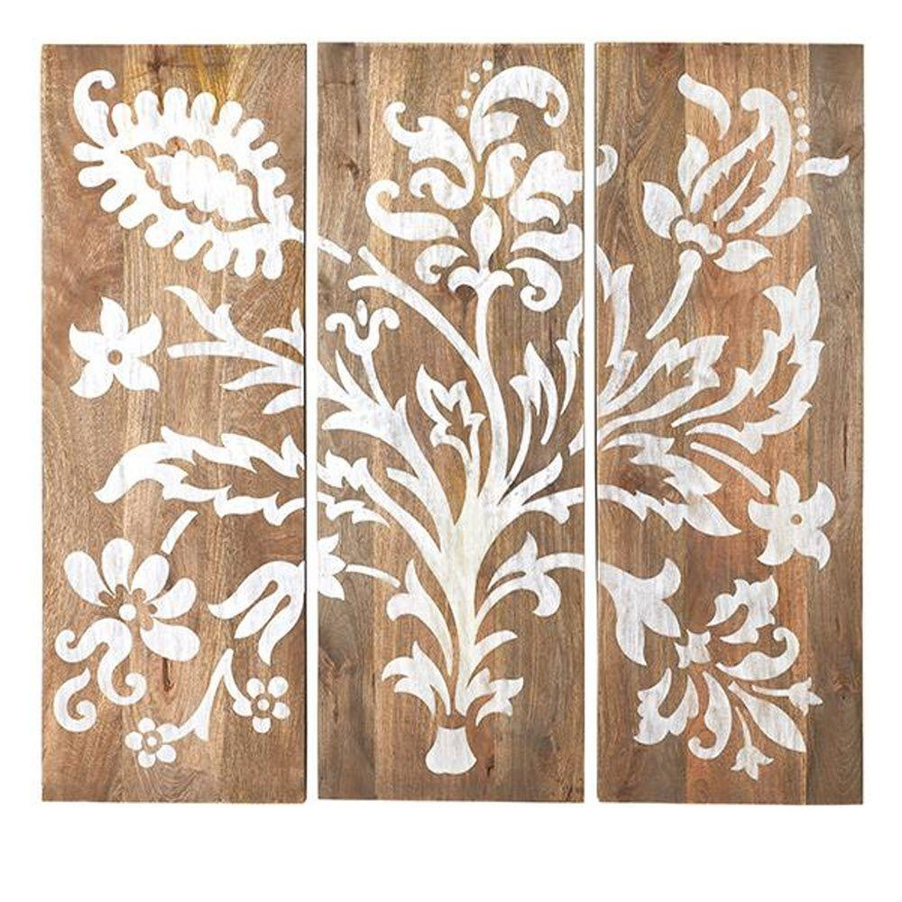 W Grey Faria Wood Wall Panel (Set Of 3) 1469700270   The Home Depot