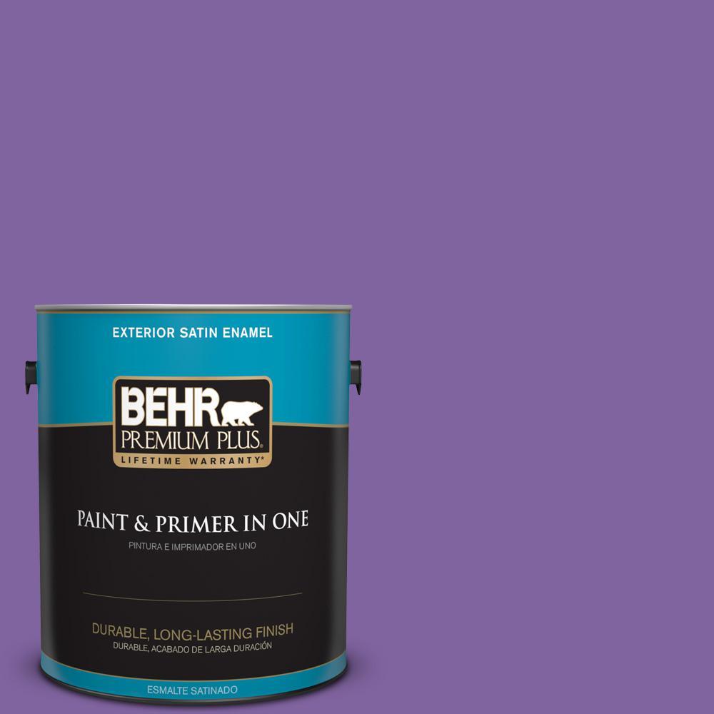 1 gal. #PPU16-03 Purple Paradise Satin Enamel Exterior Paint
