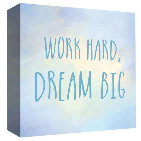 15 in  x 15 in  ''Work Hard'' By PTM Images Printed Canvas Wall Art