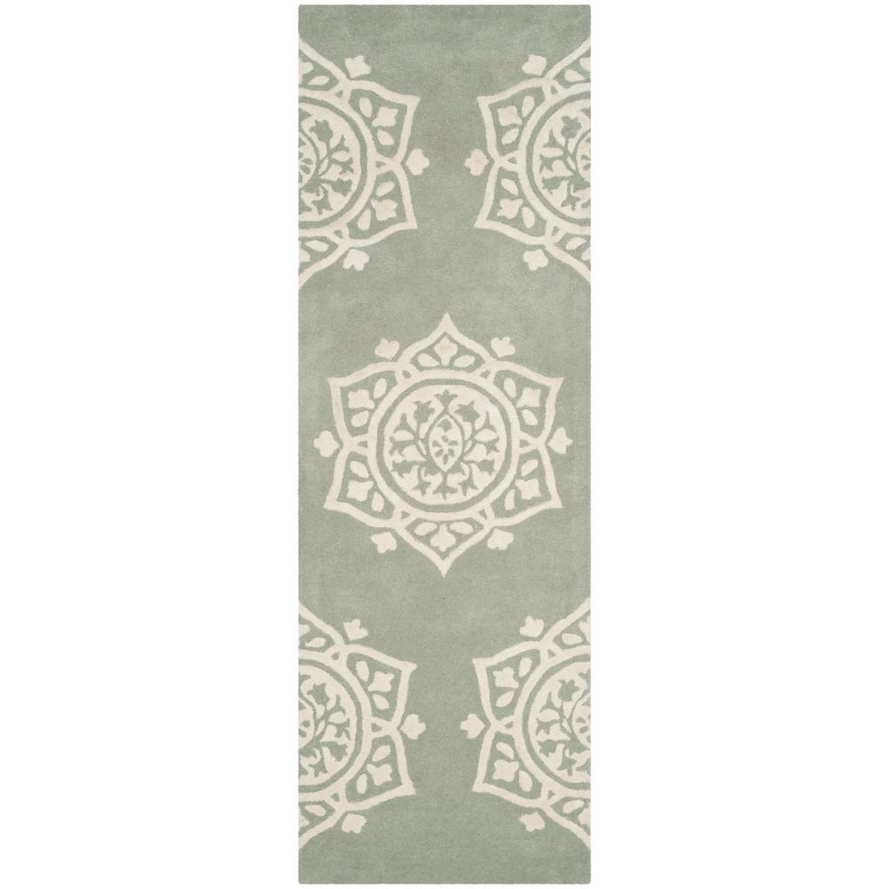 Bella Gray/Ivory 2 ft. 3 in. x 7 ft. Runner