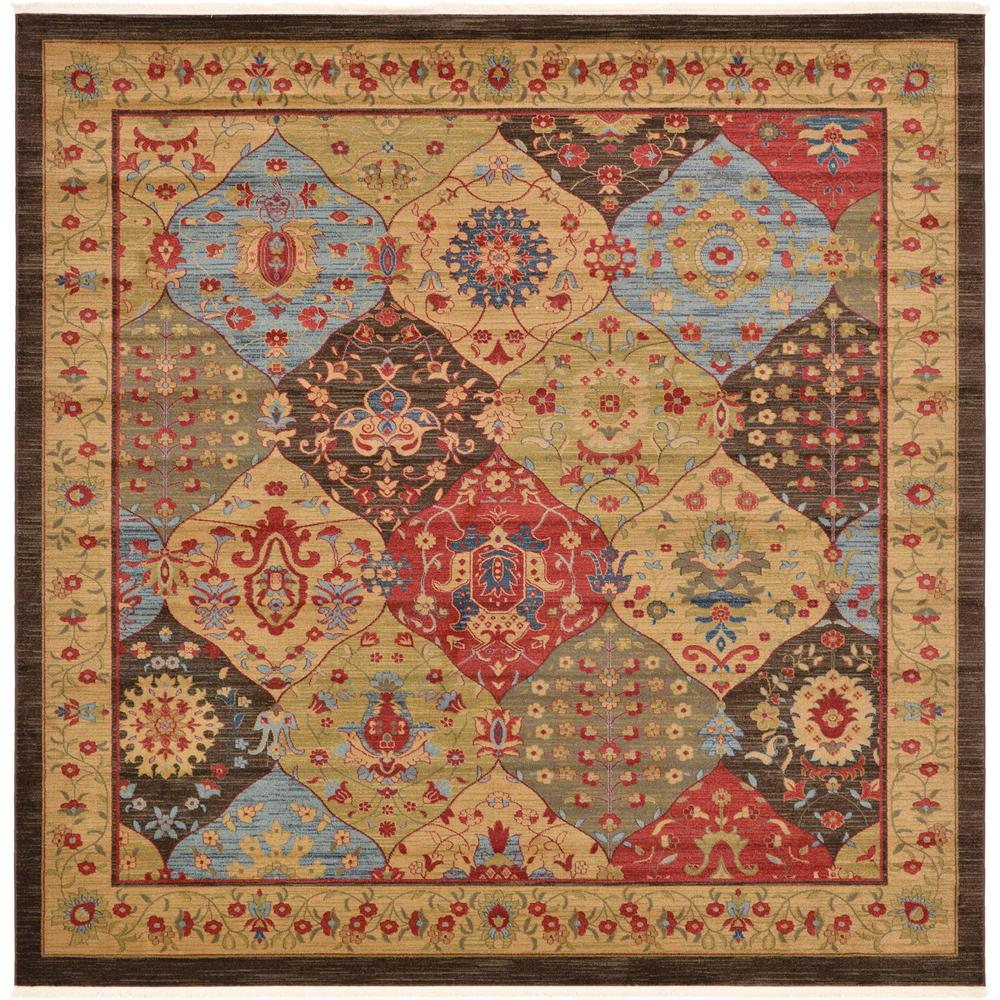 Unique Loom Edinburgh Tulip Multi 10 0 X 10 0 Square Rug 3121090