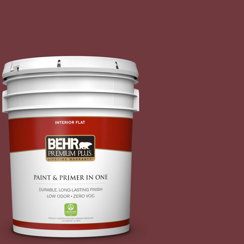 5 gal. #160F-7 Burnished Mahogany Zero VOC Flat Interior Paint