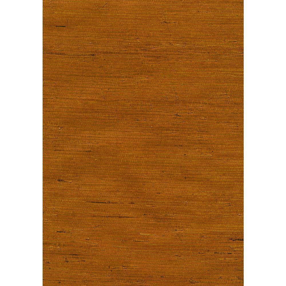 Kenneth James 72 sq. ft. Hayate Tawny Grasscloth Wallpaper 53-65419