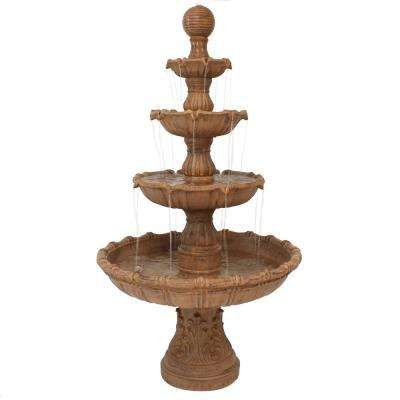80 in. Large Tiered Ball Outdoor Fountain