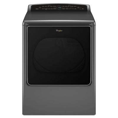 8.8 cu. ft. 240 Volt Chrome Shadow Smart Electric Vented Dryer with Remote Control, ENERGY STAR