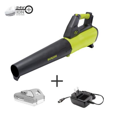 100 MPH 385 CFM 24-Volt Turbine Cordless Jet Blower Kit with 2.0 Ah Battery + Charger