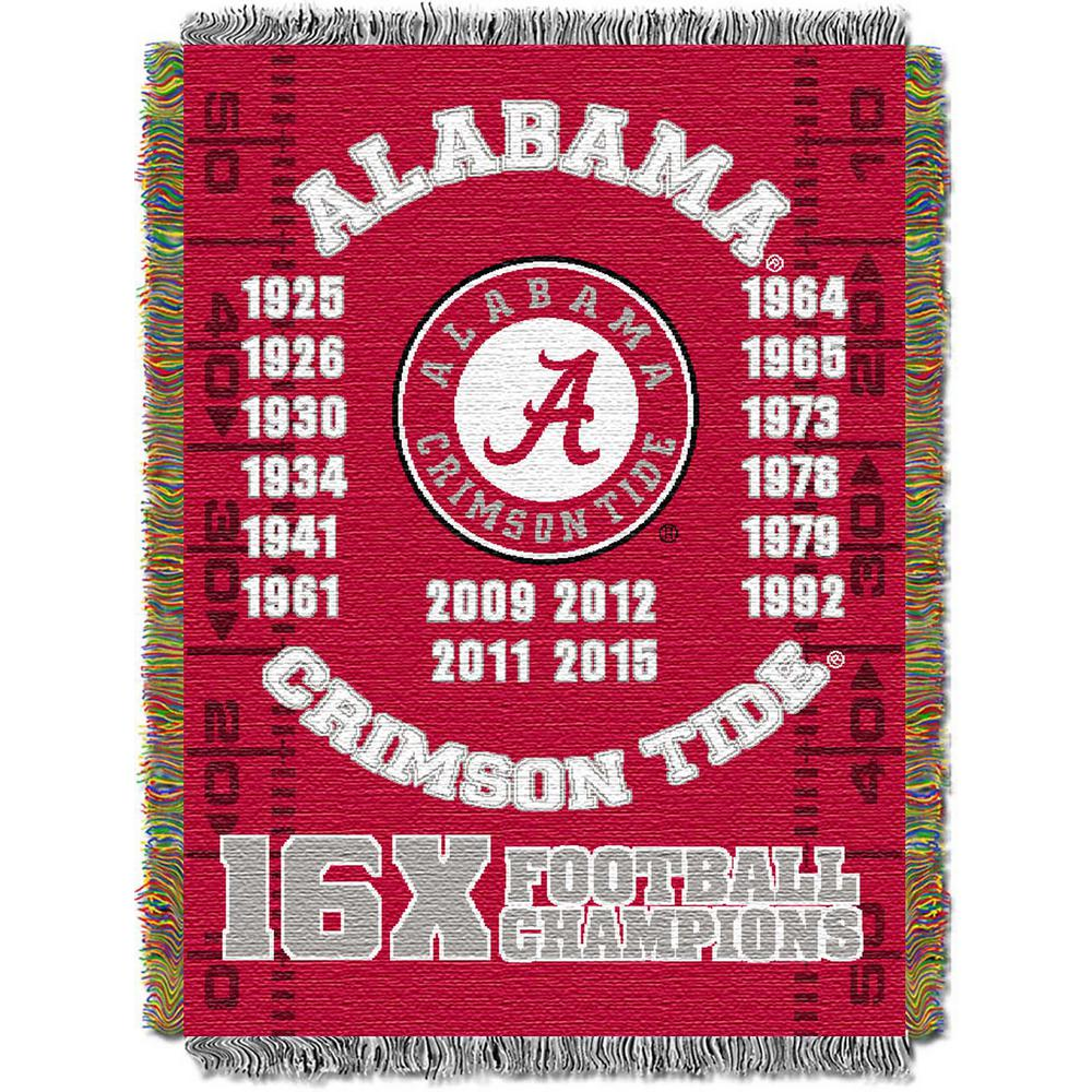 Alabama Multi-Color Tapestry Commemorative Series Throw