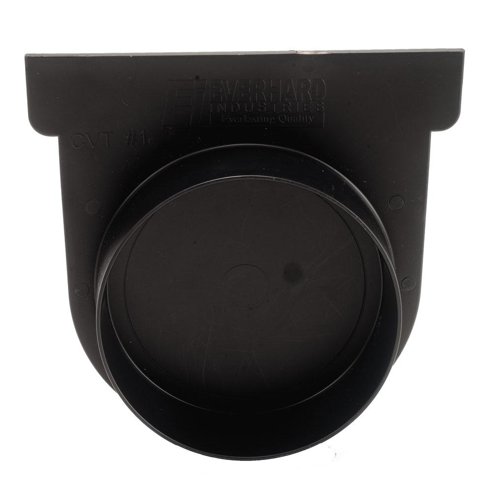 Us Trench Drain Easy Series Black End Cap And 3 In Pipe French Design Diagram Yard Drainage Landscape Adaptor For