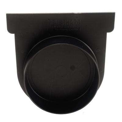 Easy Drain Series Black End Cap and 3 in. Pipe Adaptor for Modular Trench and Channel Drain Systems