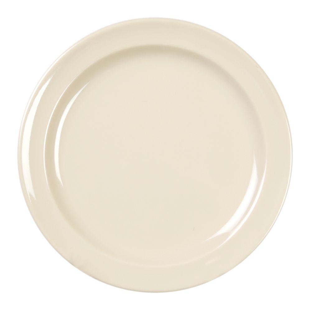 Restaurant Essentials Coleur 5-1/2 in. Plate in Saddleback Tan (12-Piece)