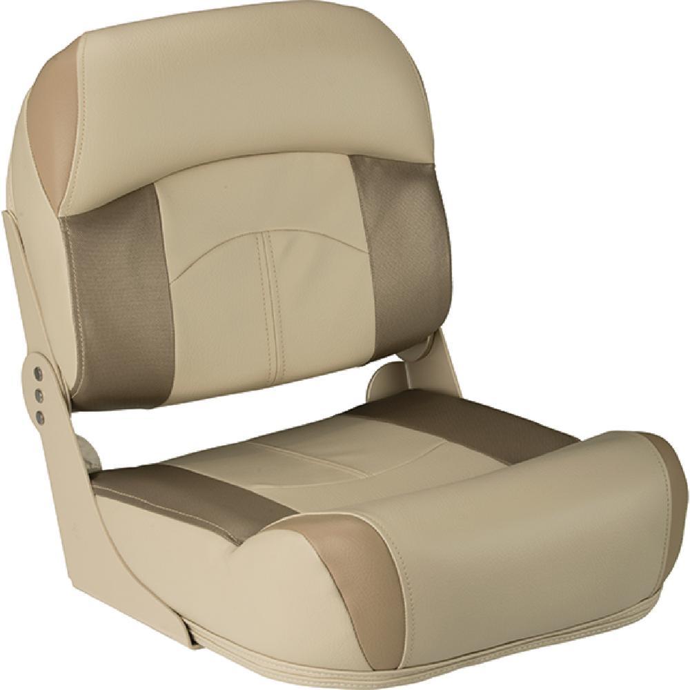Lippert High Back Fold Down Fishing Seat, Tan