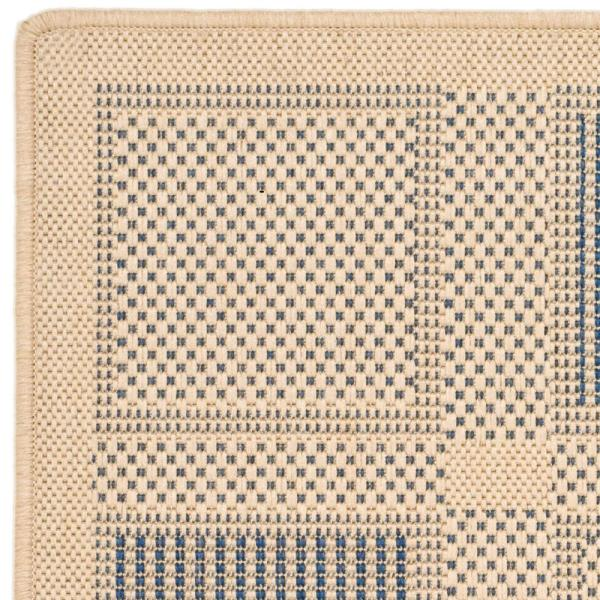 Safavieh Courtyard Natural Blue 3 Ft X 5 Ft Indoor Outdoor Area Rug Cy1928 3101 3 The Home Depot