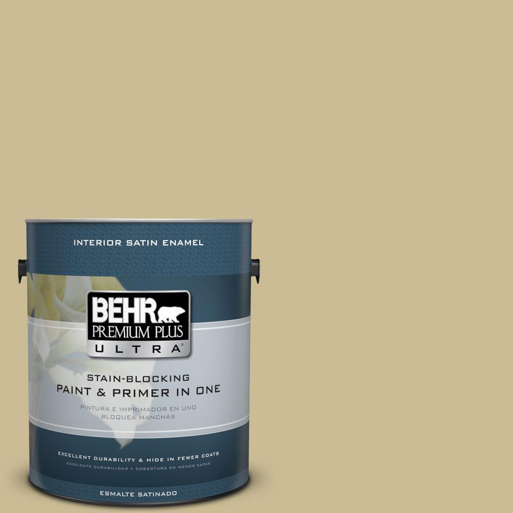 BEHR Premium Plus Ultra 1-gal. #M330-4 Morning Tea Satin Enamel Interior Paint