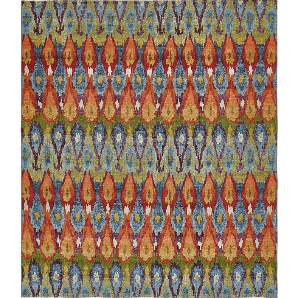 Unique Loom Eden Outdoor Multi 10 Ft. X 12 Ft. Area Rug