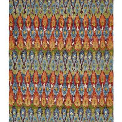 Outdoor Ikat Multi 10' 0 x 12' 0 Area Rug