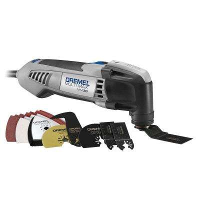Multi-Max 3.3 Amp Variable Speed Corded Oscillating Multi-Tool Kit with 10 Accessories and Carrying Bag