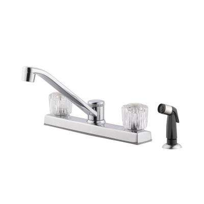 Millbridge 2-Handle Standard Kitchen Faucet with Side Sprayer in Polished Chrome