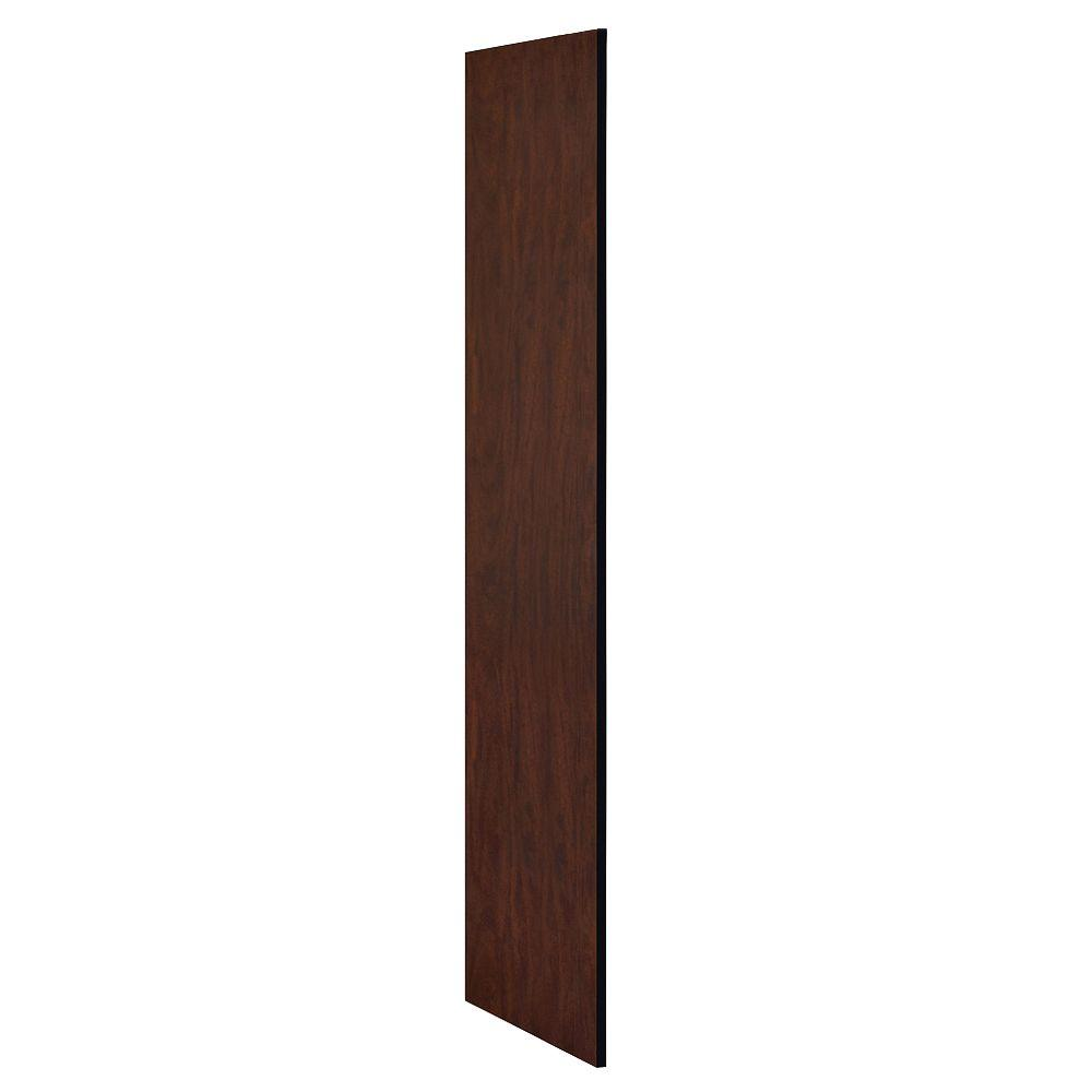 Salsbury Industries Designer Wood Side Panel without Sloping Hood for 21 in. Deep Designer Wood Locker in Mahogany