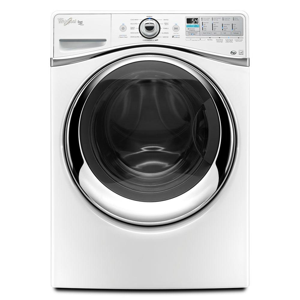 Whirlpool Duet 4.3 cu. ft. High-Efficiency Front Load Washer with Steam in White, ENERGY STAR-DISCONTINUED