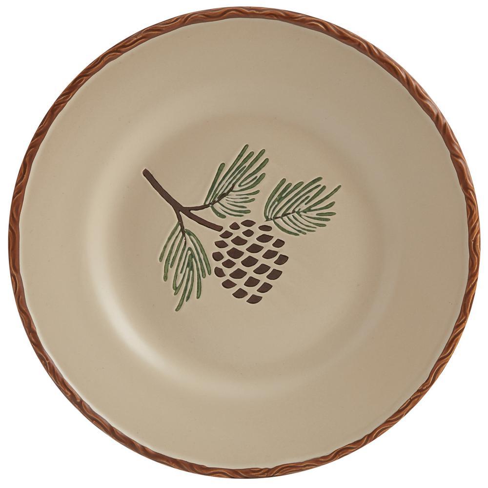 Pinecroft Tan Salad Plate (Set of 4)