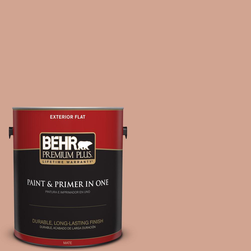BEHR Premium Plus 1-gal. #230F-4 Autumn Malt Flat Exterior Paint, Browns/Tans