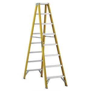 Louisville Ladder 8 ft. Fiberglass Twin Step Ladder with 250 lbs. Load Capacity... by Louisville Ladder