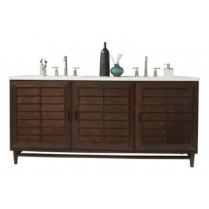 James Martin Signature Vanities Portland 72 inch W Double Vanity in Burnished Mahogany with Quartz Vanity Top in White... by James Martin Signature Vanities