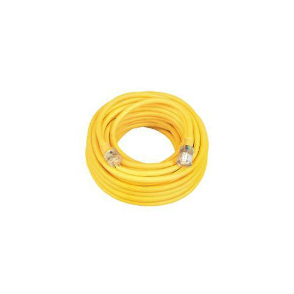 50 ft. 14/3 SJEO Outdoor Medium-Duty T-Prene Extension Cord with Power