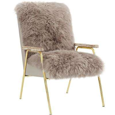 Sprint Brown Sheepsk Armchair