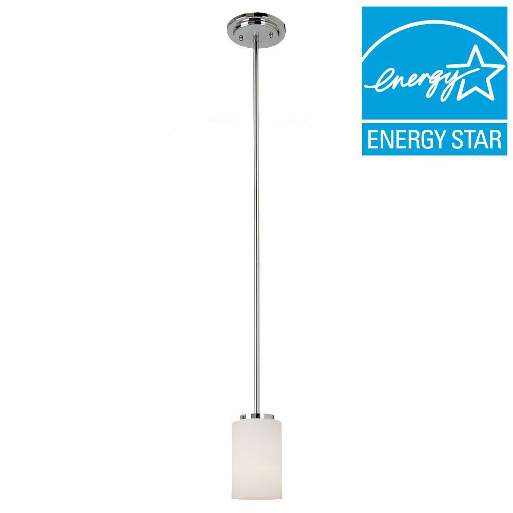 Sea Gull Lighting Oslo 1-Light Chrome Mini Pendant