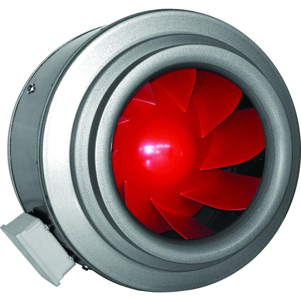 Inline Duct Fans Home Depot : Vortex v series in xl powerfan inline duct fan