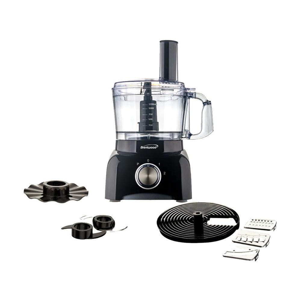 5-Cup Black Food Processor