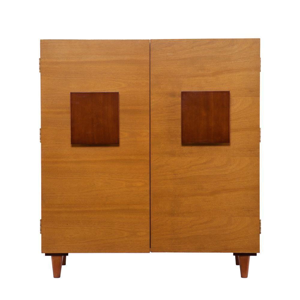 Southern Enterprises Renrose Two-Toned Honey Oak Bar