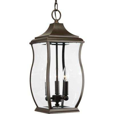 Township Collection 3-Light Outdoor Oil-Rubbed Bronze Hanging Lantern